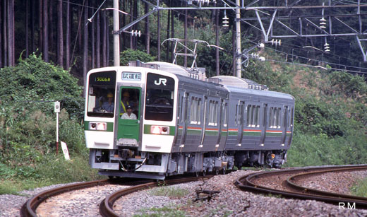 719-5000 local train series for Ouu lines of East Japan Railway.