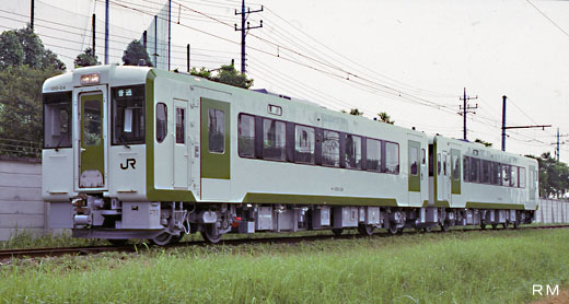 A diesel train KIHA-100 type for local lines of JR East. 1990 production.