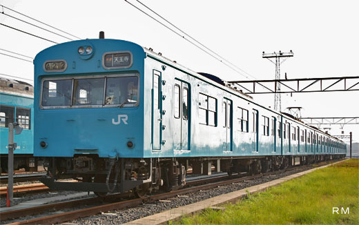 103 series commuter trains of the Japanese National Railways. A 1964 appearance.