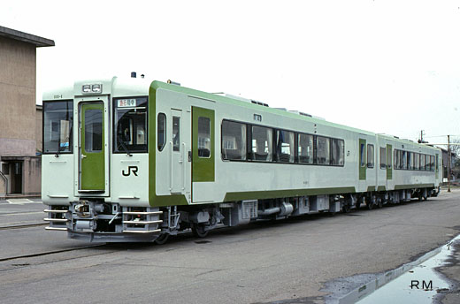 The rail diesel car of JR East, the KIHA-110 series.