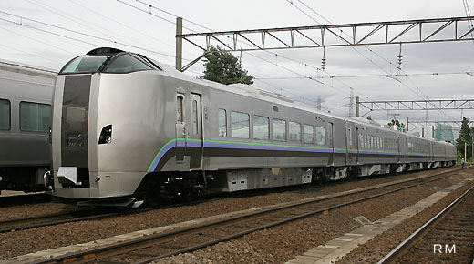 789-1000 series trains of Hokkaido Railway Company which I appeared in 2007. Limited Express SUPER KAMUI use which links Asahikawa to Sapporo.