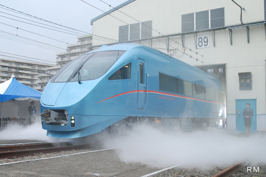 New model Romancecar 60000 type MSE (Multi Super Express) of Odakyu Electric Railway.