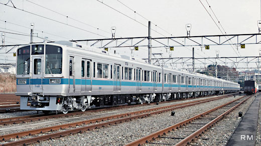Commuter train 1000 type of Odakyu Electric Railway. A 1987 appearance.