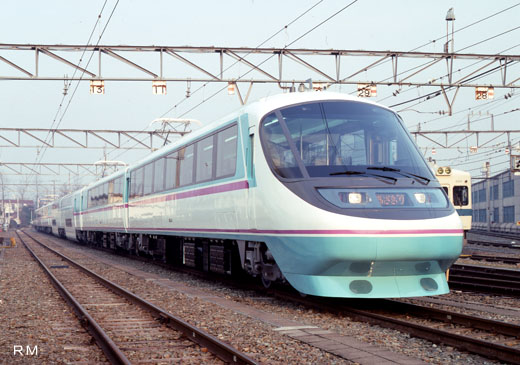 Limited express train 20000 type of Odakyu Electric Railway. 1991 placement on duty.