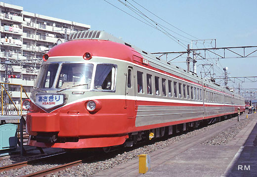 Limited express train 3000 type SE (Super Express) of Odakyu Electric Railway. A 1957 appearance.