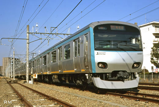 10000 series commuter trains of Sagami Railway. A 2002 debut.