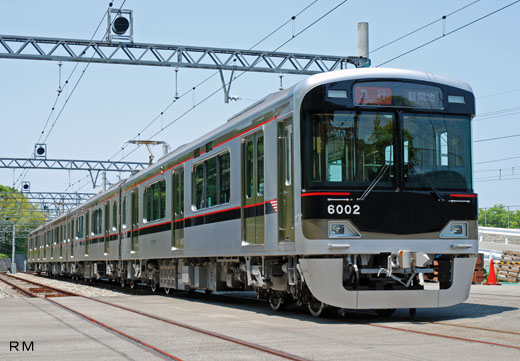The 6000 type commuter train of the Kobe electric railroad. A 2008 debut.