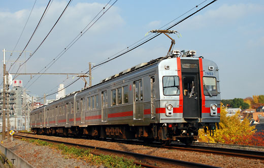 7600 series trains of Tokyu. Tamagawa / Ikegami line use. It is remodeled by 7200 series.