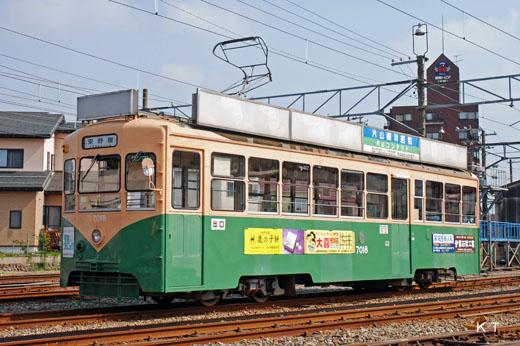 A Toyamachiho Railroad de7000 type train. A 1957 debut.