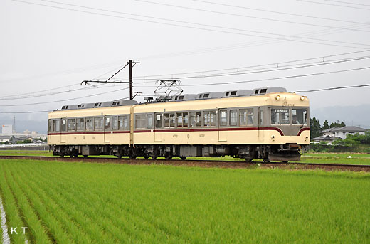 The 14720 type train of Toyamachiho Railroad. A 1962 debut.