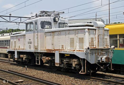Electric locomotive deki-12021 of Toyamachiho Railroad. 1958 production.
