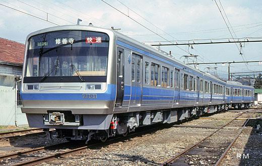 7000 series trains of Izuhakone Railway. A 1991 debut.