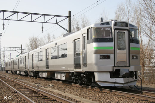 735 series trains of Hokkaido Railway. A 2010 debut.