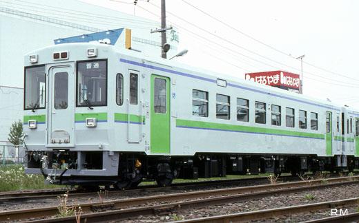 A KIHA-150 type rail diesel car of Hokkaido Railway. A 1993 debut.