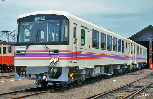 A KR-500 type rail diesel car of the Kashima railroad. A 1989 debut.