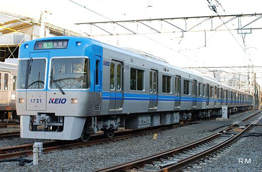1000 series trains of Keio electric railroad Inokasira Line.