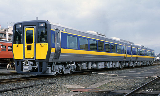 Diesel train for limited expresses of West Japan Railway, the kiha187 series. A 2001 debut.
