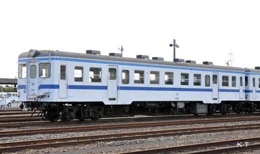 A Mizushima seaside railroad kiha20 type diesel car of Okayama. A former Japanese National Railways kiha20 type. 1960 production.
