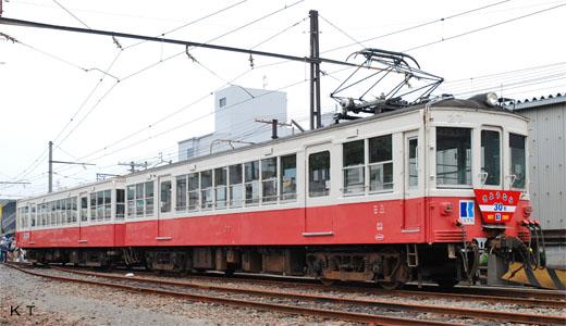 30 types of trains of THE TAKAMATSU-KOTOHIRA ELECTRIC RAILROAD