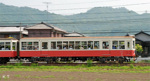 A 30 type train of THE TAKAMATSU-KOTOHIRA ELECTRIC RAILROAD which retired itself