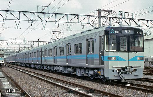 3050 series trains of Nagoya municipal subway Tsurumai Line. A 1993 debut.