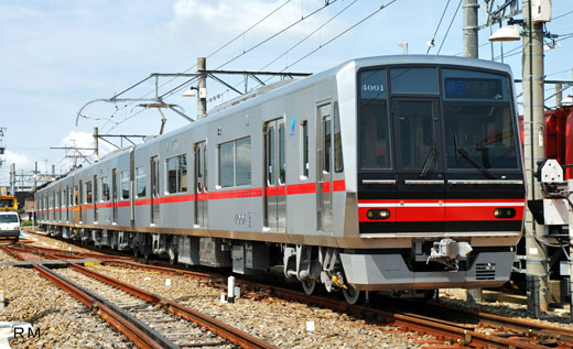 4000 series commuter trains for Nagoya Railroad Seto Line. A 2008 appearance.