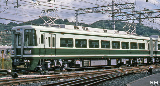 A 10000 type train for limited express Southern of Nankai Electric Railway. A 1985 debut.