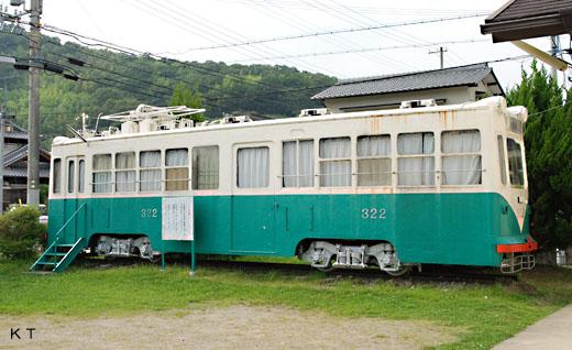 The 321 type train of Nankai Electric Railway. A streetcar of Wakayamashi abolished in 1971.