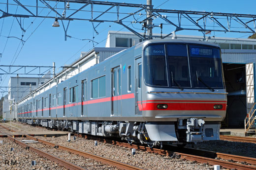 Commuter train 5000 type of Nagoya Railroad. 2008 placement on duty.