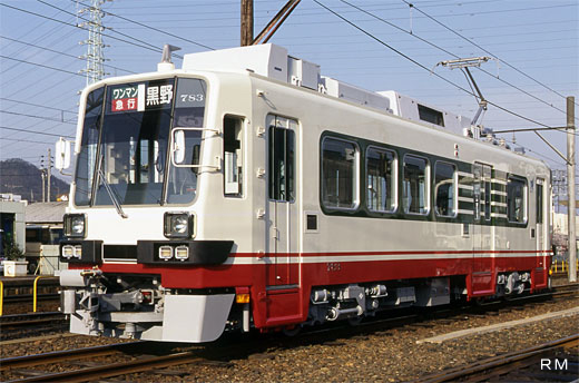 A Light Rail Vehicle of Nagoya Railroad, 780 type. A 1997 debut.