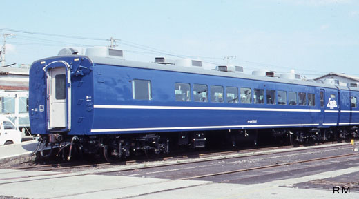 Passenger car OHA24-300type for limited express [NAHA] of Kyushu Railway Company. 1995 remodeling.
