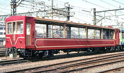 Passenger car ohafu-17 type for sightseeing of Central Japan Railway Iida Line. 1993 birth.