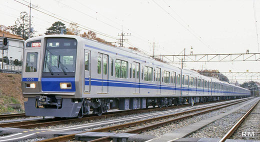 6050 commuter train series of Seibu Railway of Tokyo. 1996 production.