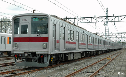 9000 commuter train series of Tobu Railway of Tokyo. A 1981 appearance.