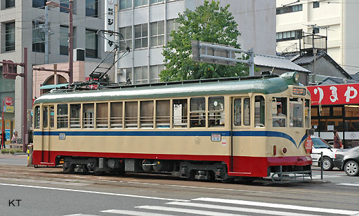A streetcar of Kochi. Tosa Electric Railway No. 221. 1957 production.